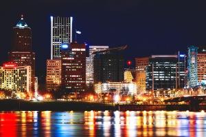 portland city night scene